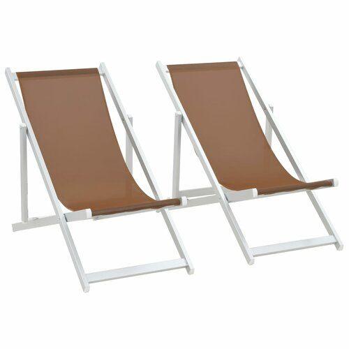 House Of Hampton Ulloa Reclining Folding Beach Chair Strandstuhl