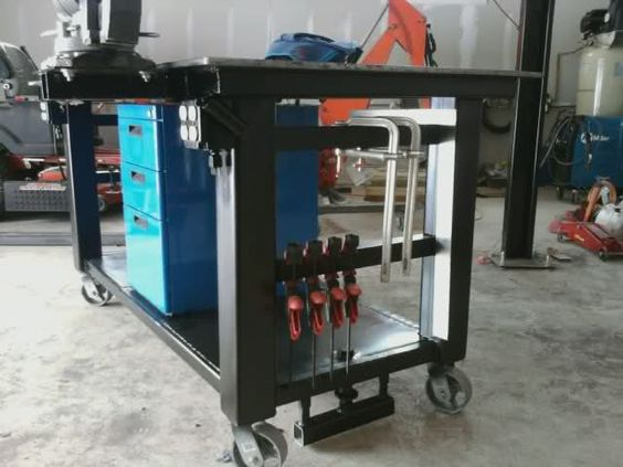 One Of The Cleanest Welding Tables Welded Tools Tables