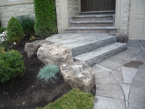 Natural Stone Front Steps 97
