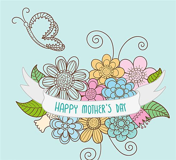 花与蝴蝶母亲节海报,母亲节,母亲节海报,花,蝴蝶,矢量,素材免费下载 - 绘艺素材网