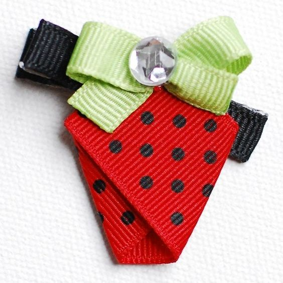 Sweet Strawberry Clip Made To Match Gymboree Burst by BeaCreative, $3.25