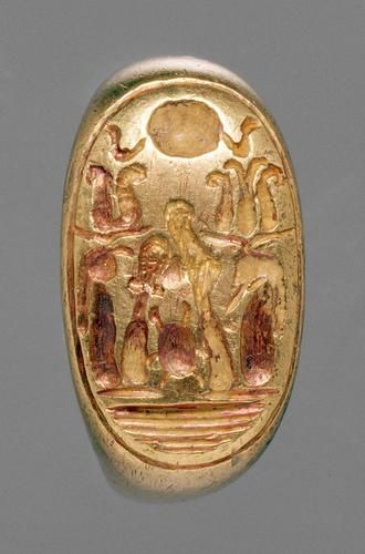 Jewelry: Signet Ring of Ramesses X.  Egyptian  new Kingdom  20th Dynasty, reign of Ramesses X., about 1120-1111 BC