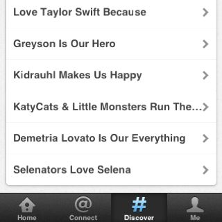 All these twitter trends! Justin, Selena, Demi, Greyson, Taylor :) LOVE music.