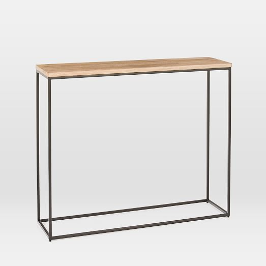Streamline Console Whitewashed West Elm Modern Console Tables Modern Style Homes White Wash