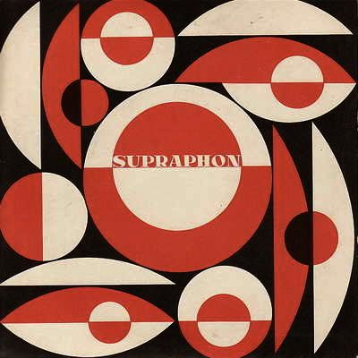 Lively & classic modern image for Supraphon (record jacket? logo?) which remains the most significant Czech record label with a distinguished history dating back to 1932.