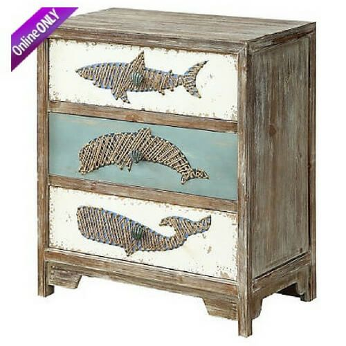 Nautical Style Accent Tables Accent Table Three Drawer Chest Nautical Decor Bedroom
