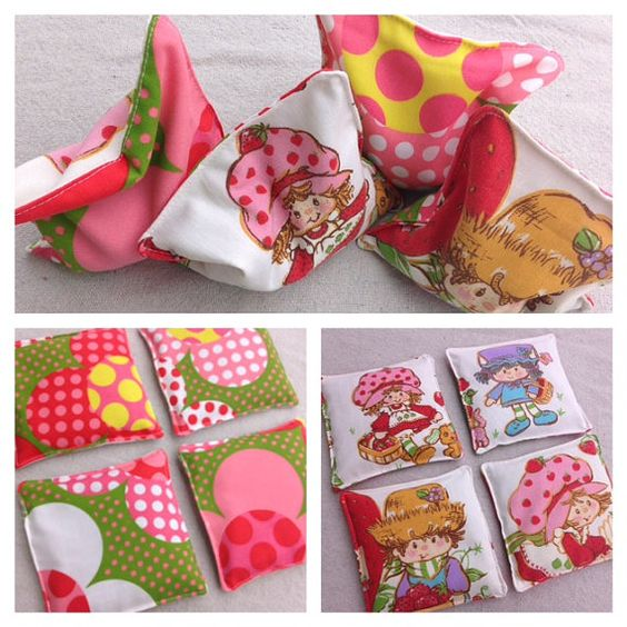 Strawberry Shortcake Bean Bags-Eco Friendly Bean Bag Toys-Set of Four