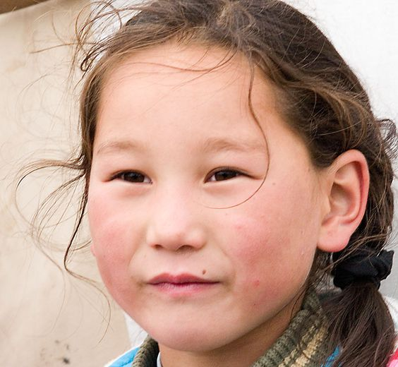 Mongolian girl. I really like Mongolian's face, their ...