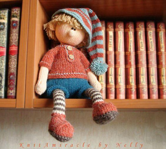 Knitting Patterns For Dolls Houses : Knitting pattern doll / toy knitting pattern / knitted doll pattern PDF / pat...