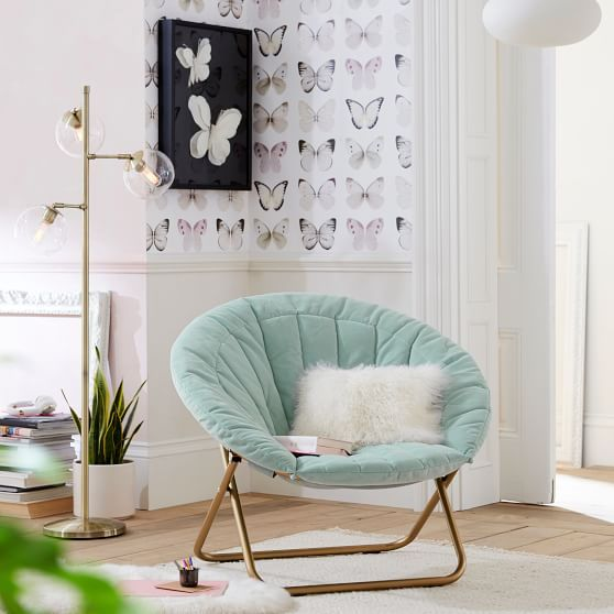 Round Rattan Cocoon Chair Luxury Modern Occasional Chairs