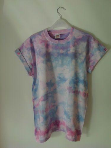 Tie Dye Dip Dye Boyfriend Galaxy Oversize Indie Hipster Retro Grunge 90s T Shirt