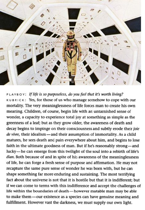 Stanley Kubrick, Playboy, and the meaninglessness of being.