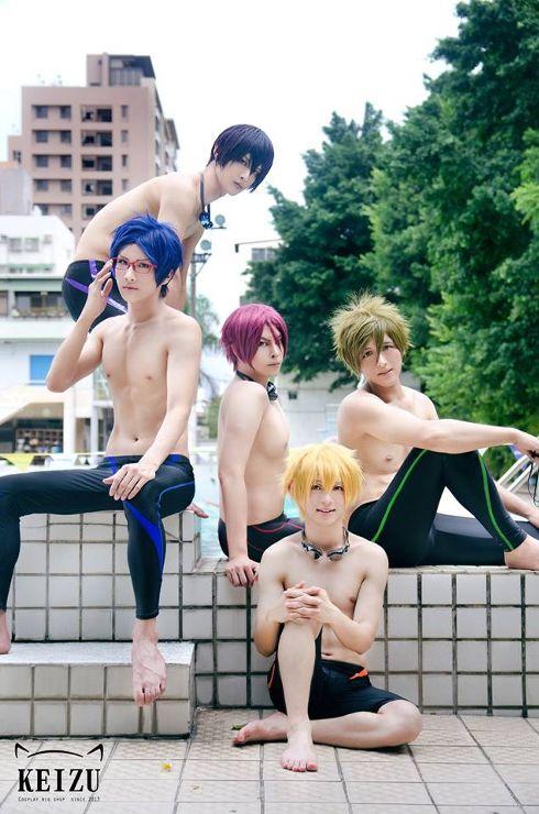 Such beauty...magnificent and amazing!! Free! - Haru, Rei, Rin, Makoto and Nagisa