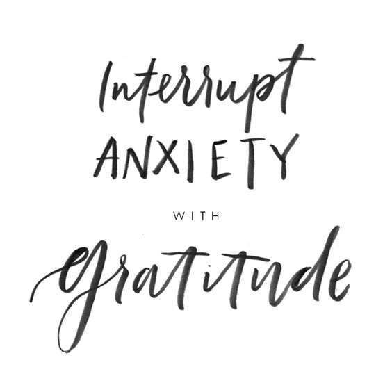 Gratitude has become my best medicine for anxiety.: