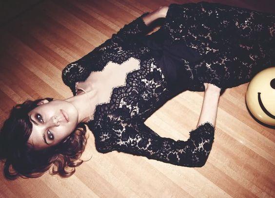 alexa in a gorgeous lace dress.: Wedding Idea, Lace Jumpsuit, Stella Mccartney, Black Laces, Fashion Inspiration, Black Lace Dresses, Alexa Chung, Black Dress
