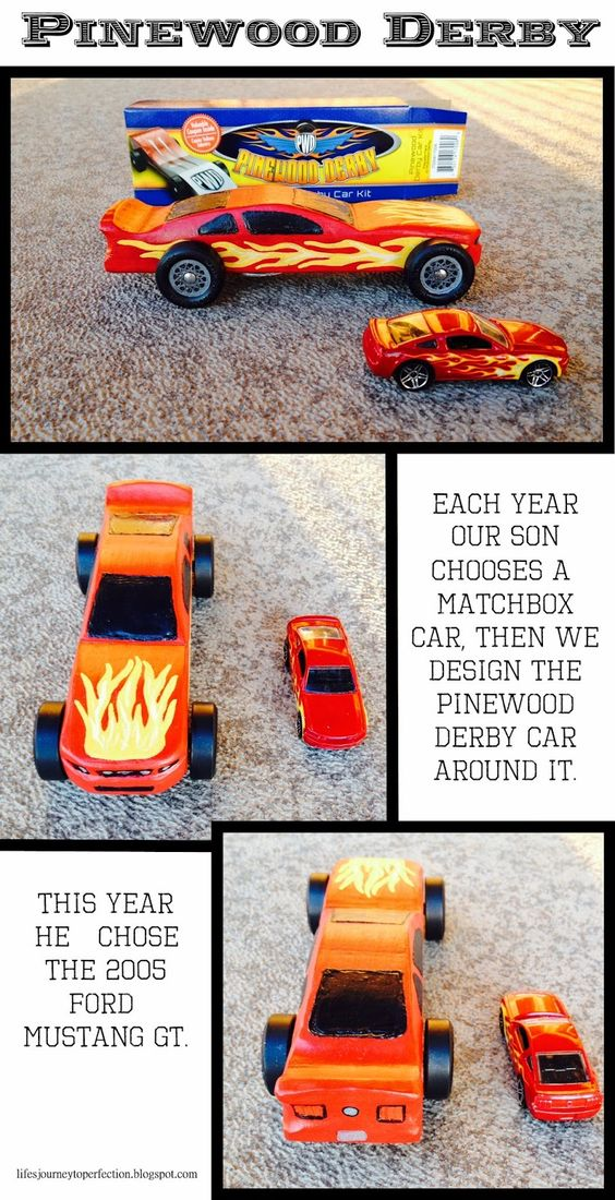 Life's Journey To Perfection: Pinewood Derby Time!! We raced a 2005 Ford Mustang GT...