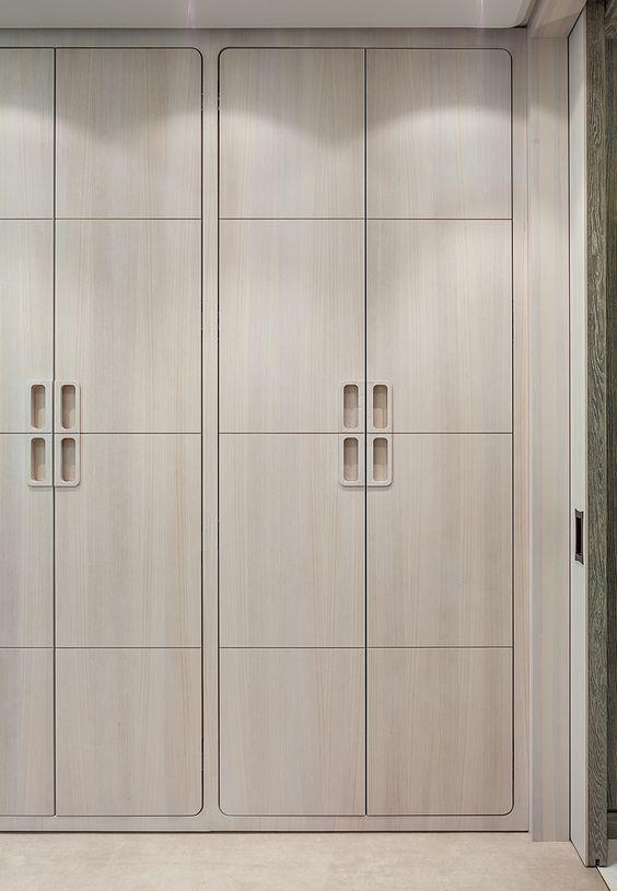 Closet closet doors and doors on pinterest for Bedroom wardrobe shutter designs