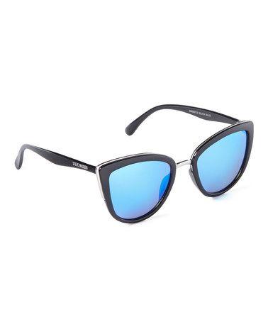Look at this #zulilyfind! Black & Blue Cat Eye Sunglasses by Steve Madden #zulilyfinds