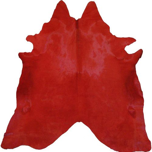 Found it at AllModern - Dyed Brazilian Cowhide Red Area Rug