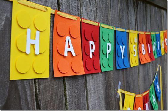 Birthday Banner #LegoBirthday