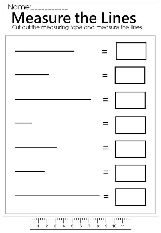 Drawing Lines With A Ruler Worksheet : Measure the line worksheet mathematics pinterest