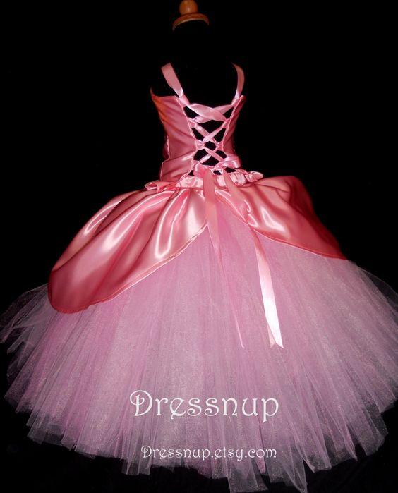 Girls Pink Princess Dress 2T-6X  Pink princess Plays and Sweet