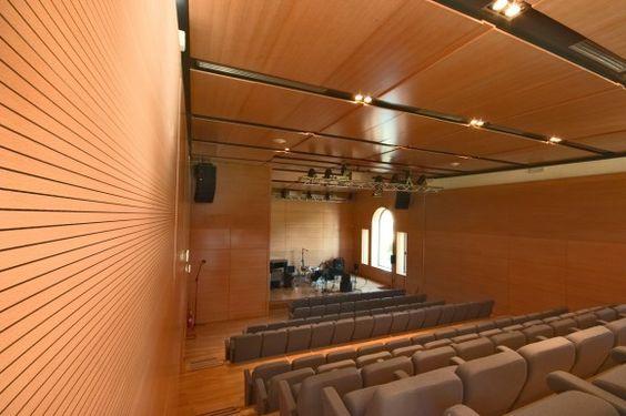 Proyecto auditorio con fantoni modelo topakustik for Modelos de oficinas