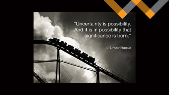 "The Possibility in Uncertainty by Michele Gooch: On my fiftieth birthday I awoke jobless, homeless, alone for the first time in 30 years and able to say ""I'm better than I should be."" I was facing what appeared to be insurmountable uncertainty.  As I reflect back on that I realize there is possibility in uncertainty..."