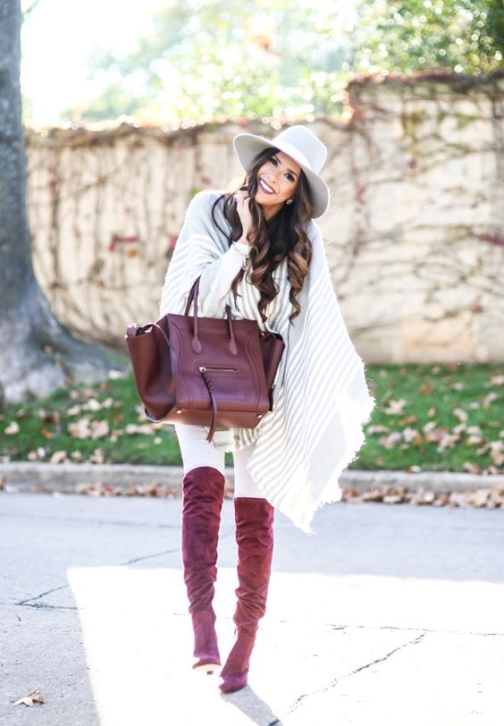 fall and winter outfit? poncho  &boots: