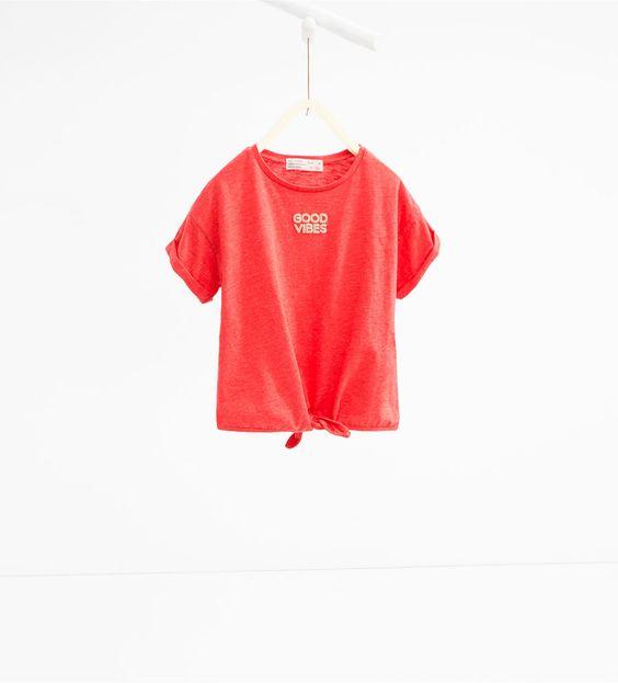 Image 1 de T-shirt à nœuds de Zara