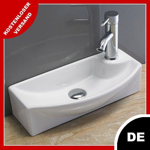 Waschbecken Klein Wandmontage Gaste Waschtisch Pepi 45 X 22
