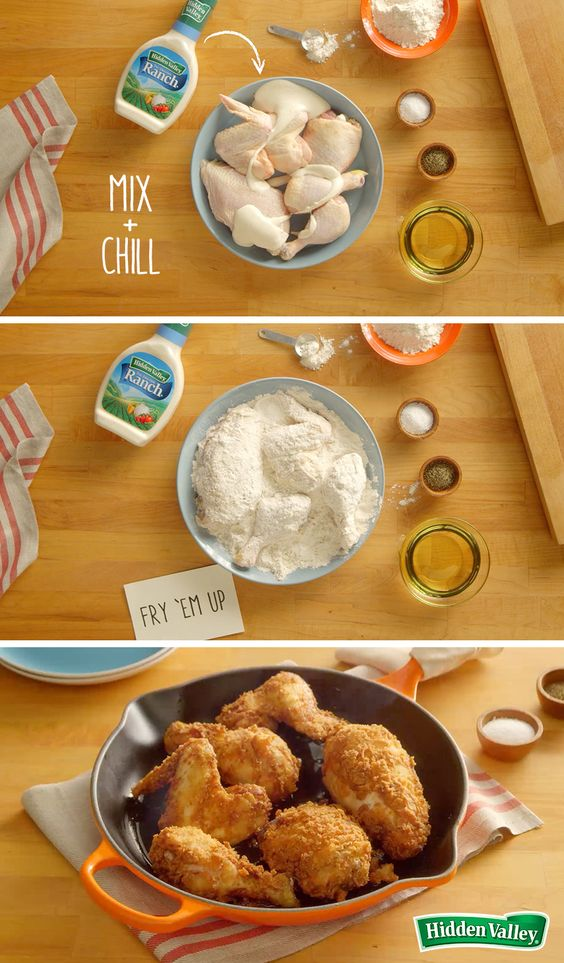 This recipe makes fried chicken simple. Click through to watch our 15-second video to see how. Then make it in under 40 minutes, and have your family licking their fingers and asking for seconds.