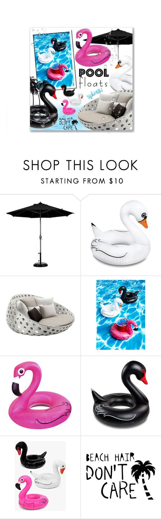 """""""Pool Floats"""" by leanne-mcclean ❤ liked on Polyvore featuring interior, interiors, interior design, home, home decor, interior decorating, Big Mouth, B&B Italia, Black Swan and Boohoo"""