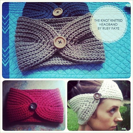 Free Crochet Pattern For Knotted Headband : Ravelry: Knot Knitted Headband pattern by Cassie Smith ...
