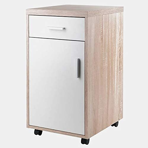 Wood Mobile Filing Cabinet Filing Cabinet With 1 Drawer Reclaimed Wood White Filing Cabinet Cabinet Office Furniture File Cabinets