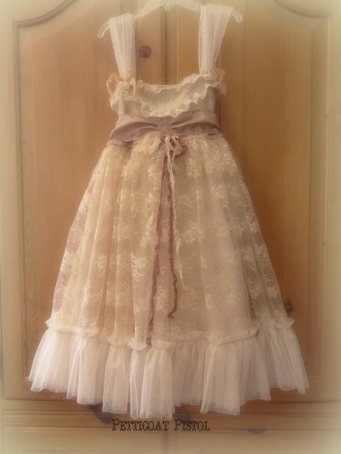 Flower Girl Dress by Petticoat Pistol on Etsy.com  Vintage ...