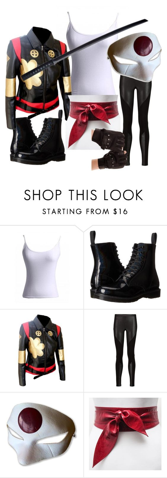 """""""Suic*de Squad: Katana"""" by phoenixgray ❤ liked on Polyvore featuring Dr. Martens…"""