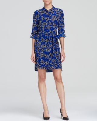 DIANE VON FURSTENBERG Prita Button Down Silk Shirt Dress. #dianevonfurstenberg #cloth #dress