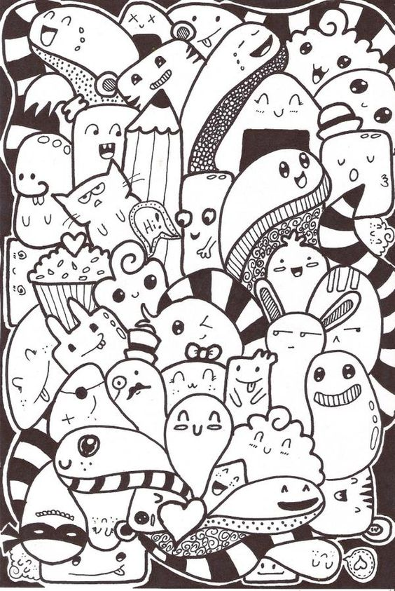 Doodle inspired by pic candle d00dle pinterest for Doodle art faces