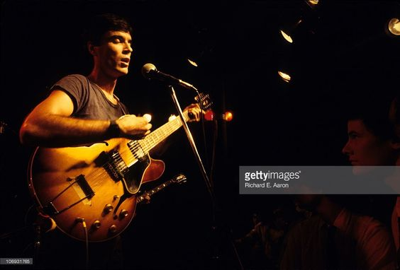 David Byrne from Talking Heads performs live on stage in New York in 1977