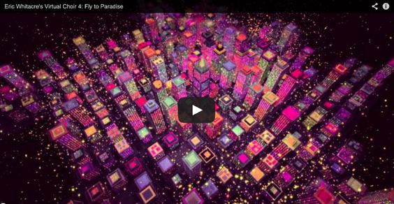 A virtual choir of 8000 singers from 101 countries. A stunning video.