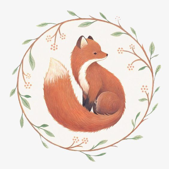 Hand Painted Fox Fox Red Fox Little Fox Png Transparent Clipart Image And Psd File For Free Download Fox Illustration Fox Art Art