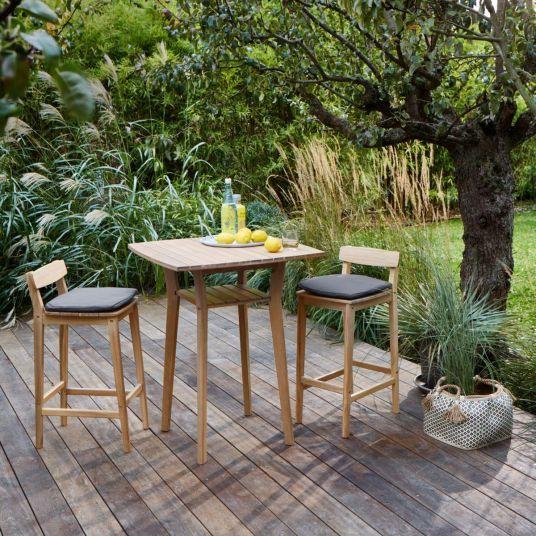 Shopping Deco Ou Trouver Du Beau Mobilier De Jardin En Bois Jardins En Bois Mobilier Jardin Table Et Chaises Hautes