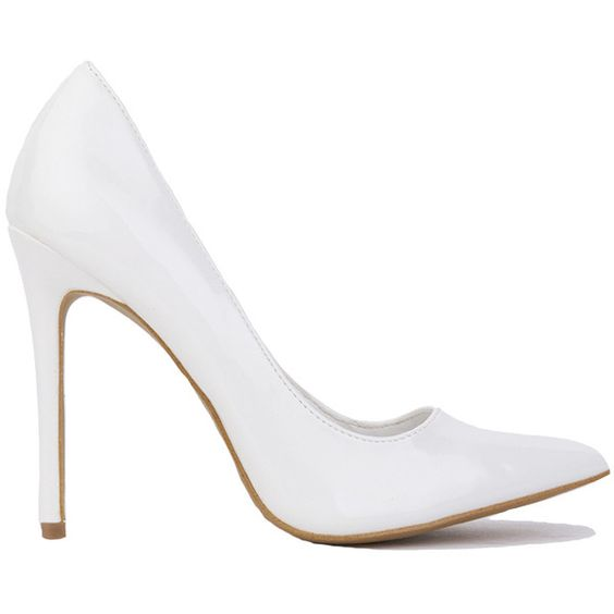 Pointed Toe Patent Pump - White and other apparel, accessories and ...