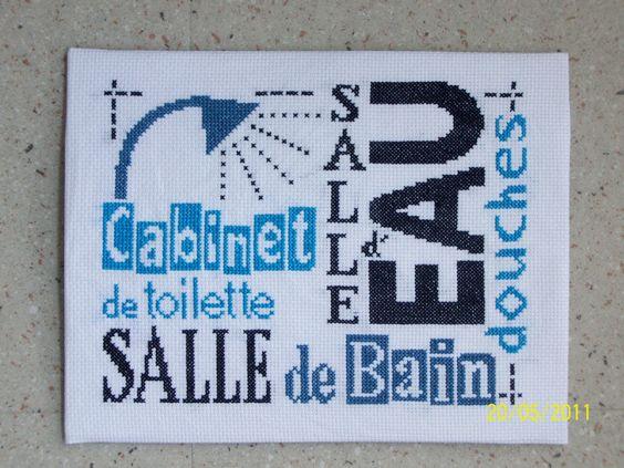 GRILLE DE SALLE DE BAINS AU POINT DE CROIX  Pesquisa do