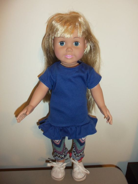 America Girl Doll Shirt with Leggings by CarolinaDollClothes on Etsy