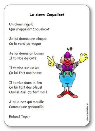 Comptine Le clown Coquelicot