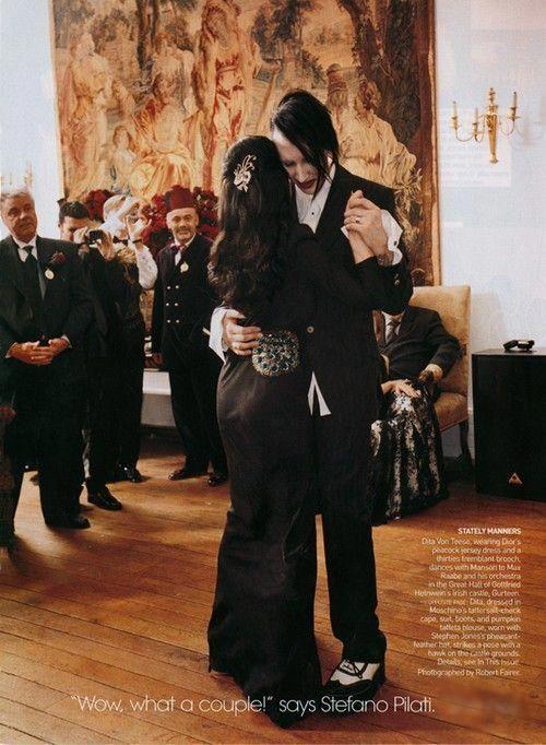 Vechus Marilyn Manson Dita Von Teese S Wedding Instagram Marilyn Manson Pictures