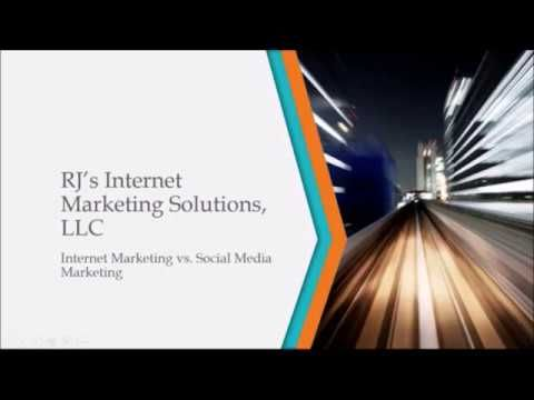 Internet Marketing vs Social Media Marketing Presentation u2013 RJu0027s - marketing presentation