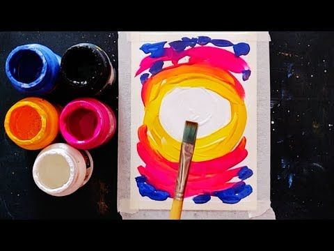 Easy Simple Poster Colour Painting Ideas For Beginners Step By